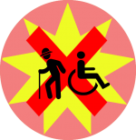 Ongeschikt voor rolstoel en slecht ter been